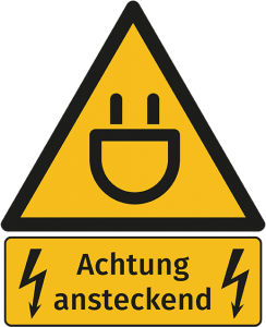 Warnschild: Achtung ansteckend
